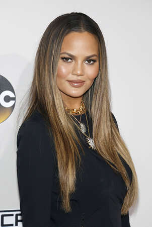 Chrissy Teigen at the 2016 American Music Awards held at the Microsoft Theater in Los Angeles, USA on November 20, 2016. Editorial