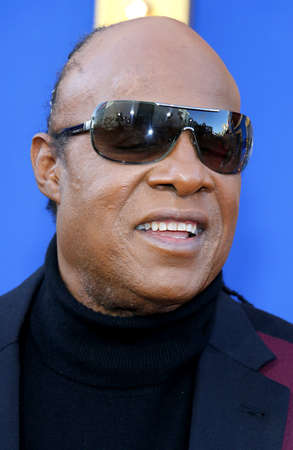 Stevie Wonder at the Los Angeles premiere of Sing held at the Microsoft Theater in Los Angeles, USA on December 3, 2016. Editorial
