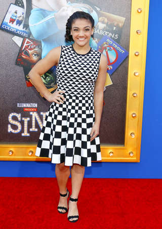 Laurie Hernandez at the Los Angeles premiere of Sing held at the Microsoft Theater in Los Angeles, USA on December 3, 2016. Editorial
