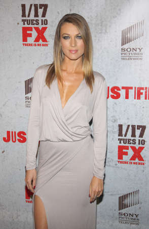 justified: Natalie Zea at the season 3 premiere screening of FXs Justified held at the DGA Theater in Hollywood, USA on January 10, 2012.
