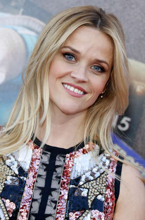 Reese Witherspoon at the Los Angeles premiere of Sing held at the Microsoft Theater in Los Angeles, USA on December 3, 2016. Editorial