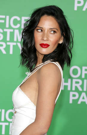 Olivia Munn at the Los Angeles premiere of Office Christmas Party held at the Regency Village Theatre in Westwood, USA on December 7, 2016. Editorial