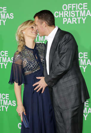 molly: Scott Stuber and Molly Sims at the Los Angeles premiere of Office Christmas Party held at the Regency Village Theatre in Westwood, USA on December 7, 2016.