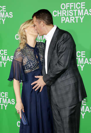 Scott Stuber and Molly Sims at the Los Angeles premiere of Office Christmas Party held at the Regency Village Theatre in Westwood, USA on December 7, 2016.