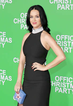 perry: Katy Perry at the Los Angeles premiere of Office Christmas Party held at the Regency Village Theatre in Westwood, USA on December 7, 2016. Editorial