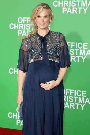 molly: Molly Sims at the Los Angeles premiere of Office Christmas Party held at the Regency Village Theatre in Westwood, USA on December 7, 2016. Editorial