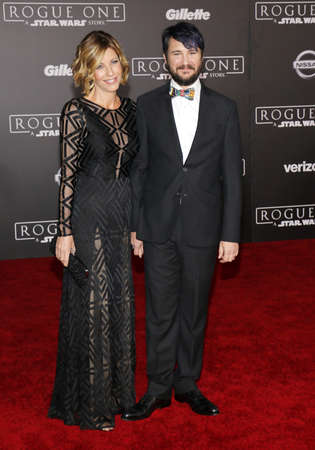 rogue: Wil Wheaton and Anne Wheaton at the World premiere of Rogue One: A Star Wars Story held at the Pantages Theatre in Hollywood, USA on December 10, 2016.
