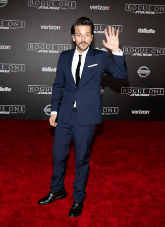 rogue: Diego Luna at the World premiere of Rogue One: A Star Wars Story held at the Pantages Theatre in Hollywood, USA on December 10, 2016. Editorial