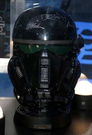 rogue: A Death Trooper at the World premiere of Rogue One: A Star Wars Story held at the Pantages Theatre in Hollywood, USA on December 10, 2016.