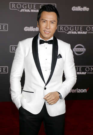 rogue: Donnie Yen at the World premiere of Rogue One: A Star Wars Story held at the Pantages Theatre in Hollywood, USA on December 10, 2016.