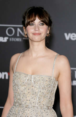 Felicity Jones at the World premiere of 'Rogue One: A Star Wars Story' held at the Pantages Theatre in Hollywood, USA on December 10, 2016.