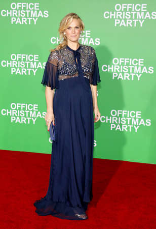 Molly Sims at the Los Angeles premiere of 'Office Christmas Party' held at the Regency Village Theatre in Westwood, USA on December 7, 2016.