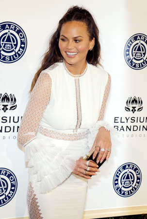 elysium: Chrissy Teigen at the Art of Elysium Celebrating the 10th Anniversary held at the Red Studios in Los Angeles, USA on January 7, 2017. Editorial