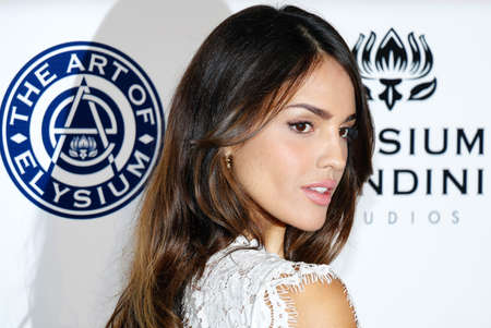elysium: Eiza Gonzalez at the Art of Elysium Celebrating the 10th Anniversary held at the Red Studios in Los Angeles, USA on January 7, 2017. Editorial