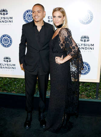 elysium: Evan Ross and Ashlee Simpson at the Art of Elysium Celebrating the 10th Anniversary held at the Red Studios in Los Angeles, USA on January 7, 2017.