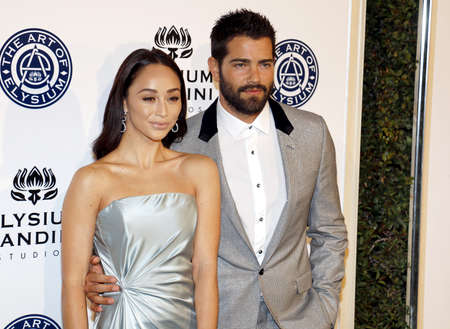 elysium: Jesse Metcalfe and Cara Santana at the Art of Elysium Celebrating the 10th Anniversary held at the Red Studios in Los Angeles, USA on January 7, 2017. Editorial