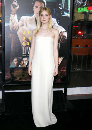 Elle Fanning at the Los Angeles premiere of Live By Night held at the TCL Chinese Theatre in Hollywood, USA on January 9, 2017.