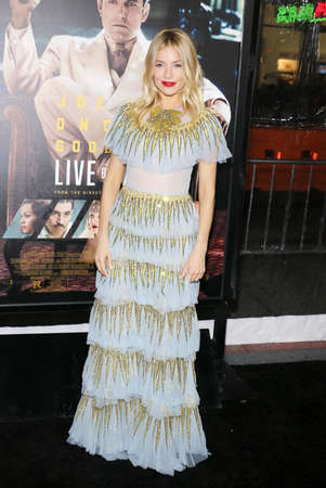 Sienna Miller at the Los Angeles premiere of Live By Night held at the TCL Chinese Theatre in Hollywood, USA on January 9, 2017.