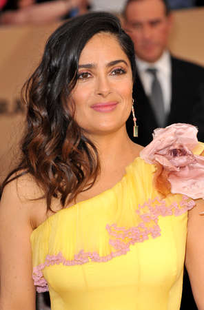 guild hall: Salma Hayek at the 23rd Annual Screen Actors Guild Awards held at the Shrine Expo Hall in Los Angeles, USA on January 29, 2017.