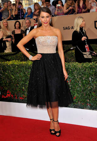 guild hall: Sofia Vergara at the 23rd Annual Screen Actors Guild Awards held at the Shrine Expo Hall in Los Angeles, USA on January 29, 2017.
