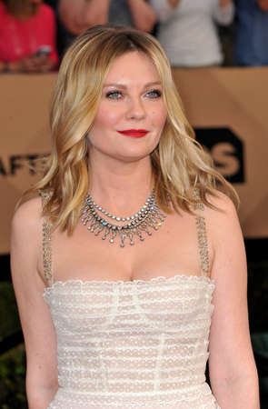 guild hall: Kirsten Dunst at the 23rd Annual Screen Actors Guild Awards held at the Shrine Expo Hall in Los Angeles, USA on January 29, 2017. Editorial
