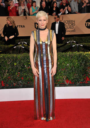 guild hall: Michelle Williams at the 23rd Annual Screen Actors Guild Awards held at the Shrine Expo Hall in Los Angeles, USA on January 29, 2017. Editorial