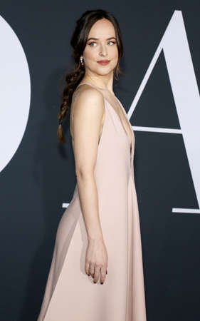 Dakota Johnson at the Los Angeles premiere of Fifty Shades Darker held at the Theatre at Ace Hotel in Los Angeles, USA on February 2, 2017. Editorial
