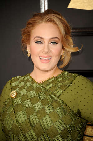 Adele at the 59th GRAMMY Awards held at the Staples Center in Los Angeles, USA on February 12, 2017. Redactioneel