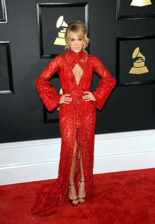 underwood: Carrie Underwood at the 59th GRAMMY Awards held at the Staples Center in Los Angeles, USA on February 12, 2017.