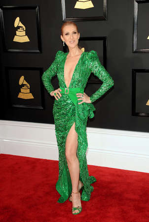 Celine Dion at the 59th GRAMMY Awards held at the Staples Center in Los Angeles, USA on February 12, 2017.