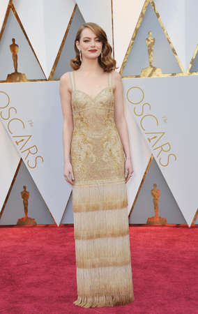 Emma Stone at the 89th Annual Academy Awards held at the Hollywood and Highland Center in Hollywood, USA on February 26, 2017. Stock Photo - 72818251
