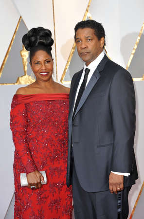 Denzel Washington and Pauletta Washington at the 89th Annual Academy Awards held at the Hollywood and Highland Center in Hollywood, USA on February 26, 2017. Editorial