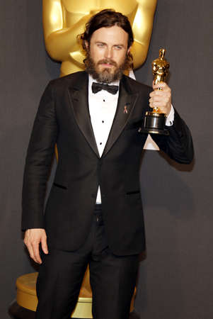 casey: Casey Affleck at the 89th Annual Academy Awards - Press Room held at the Hollywood and Highland Center in Hollywood, USA on February 26, 2017. Editorial