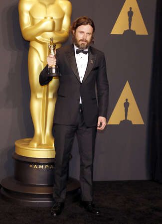 Casey Affleck at the 89th Annual Academy Awards - Press Room held at the Hollywood and Highland Center in Hollywood, USA on February 26, 2017. Editorial
