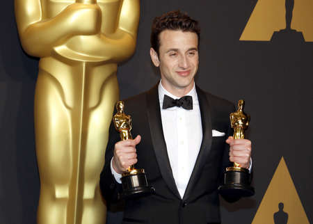oscars: Justin Hurwitz at the 89th Annual Academy Awards - Press Room held at the Hollywood and Highland Center in Hollywood, USA on February 26, 2017.