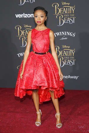 Skai Jackson at the Los Angeles premiere of Beauty And The Beast held at the El Capitan Theatre in Hollywood, USA on March 2, 2017. Editorial