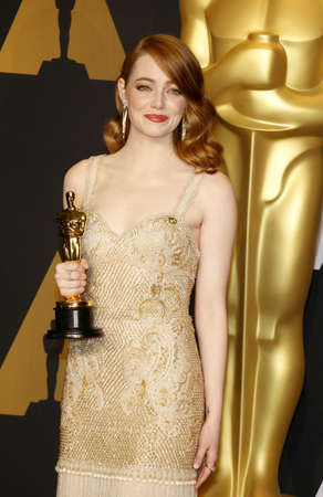 oscars: Emma Stone at the 89th Annual Academy Awards - Press Room held at the Hollywood and Highland Center in Hollywood, USA on February 26, 2017.
