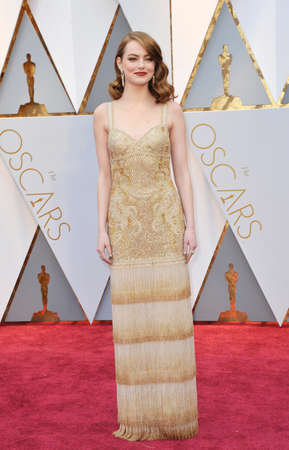 Emma Stone at the 89th Annual Academy Awards held at the Hollywood and Highland Center in Hollywood, USA on February 26, 2017. Editorial