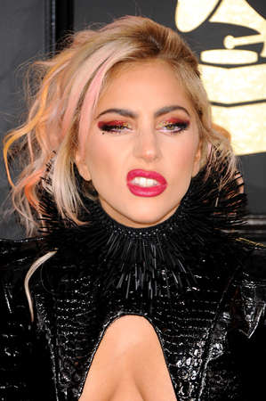 Lady Gaga at the 59th GRAMMY Awards held at the Staples Center in Los Angeles, USA on February 12, 2017.