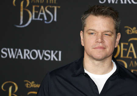 Matt Damon at the Los Angeles premiere of Beauty And The Beast held at the El Capitan Theatre in Hollywood, USA on March 2, 2017.