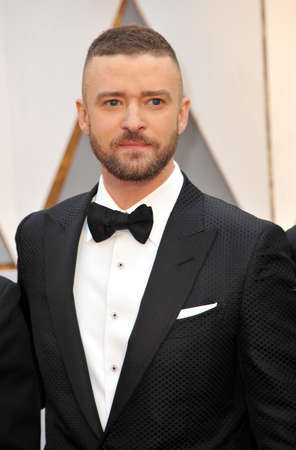 Justin Timberlake at the 89th Annual Academy Awards held at the Hollywood and Highland Center in Hollywood, USA on February 26, 2017. Redactioneel