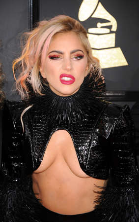 gaga: Lady Gaga at the 59th GRAMMY Awards held at the Staples Center in Los Angeles, USA on February 12, 2017.