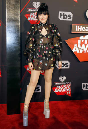 Noah Cyrus at the 2017 iHeartRadio Music Awards held at the Forum in Inglewood, USA on March 5, 2017.