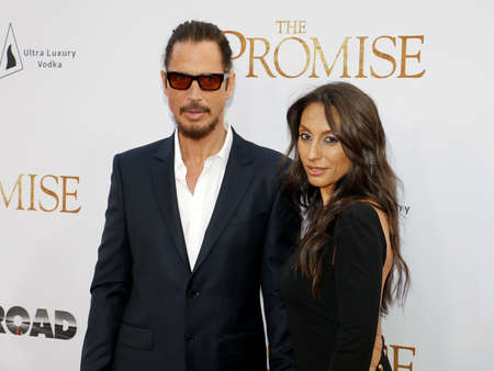 Chris Cornell and Vicky Karayiannis at the Los Angeles premiere of The Promise held at the TCL Chinese Theatre in Hollywood, USA on April 12, 2017. Editorial