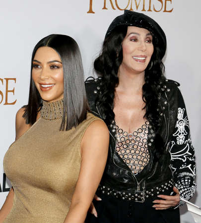 Kim Kardashian West and Cher at the Los Angeles premiere of The Promise held at the TCL Chinese Theatre in Hollywood, USA on April 12, 2017. Editorial