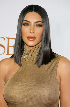 Kim Kardashian West at the Los Angeles premiere of The Promise held at the TCL Chinese Theatre in Hollywood, USA on April 12, 2017.