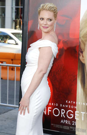 Katherine Heigl at the Los Angeles premiere of Unforgettable held at the TCL Chinese Theatre in Hollywood, USA on April 18, 2017.