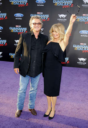 dolby: Goldie Hawn and Kurt Russell at the Los Angeles premiere of Guardians Of The Galaxy Vol. 2 held at the Dolby Theatre in Hollywood, USA on April 19, 2017.