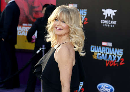 Goldie Hawn at the Los Angeles premiere of Guardians Of The Galaxy Vol. 2 held at the Dolby Theatre in Hollywood, USA on April 19, 2017. Editorial