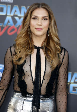 dolby: Allison Holker at the Los Angeles premiere of Guardians Of The Galaxy Vol. 2 held at the Dolby Theatre in Hollywood, USA on April 19, 2017.